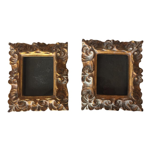 Vintage Italian Composite Small Photo Frames - a Pair - Image 1 of 5