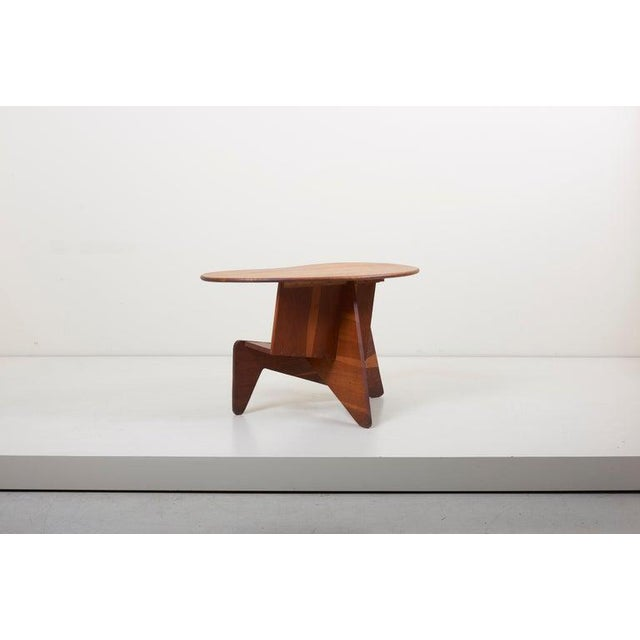 Wood Pair of Wooden Mid-Century Modern Studio Side Tables, Us For Sale - Image 7 of 12