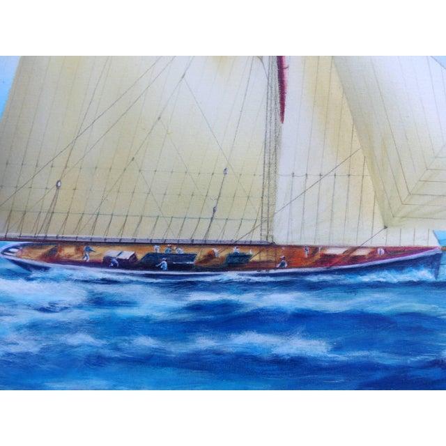 "Canvas Argentine Artist Gabriel Duarte Nautical Painting ""New Bounty"" For Sale - Image 7 of 11"