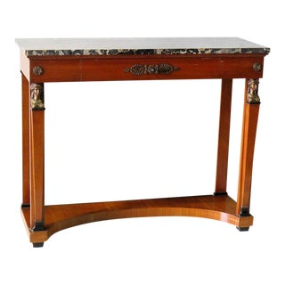 French Empire Style Marble-Top Pier Table
