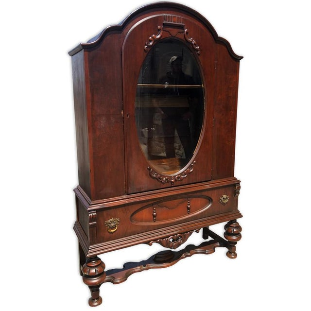 A piece with absolute character! This Antique Victorian Curio Cabinet would look outstanding in an upscale estates dining...