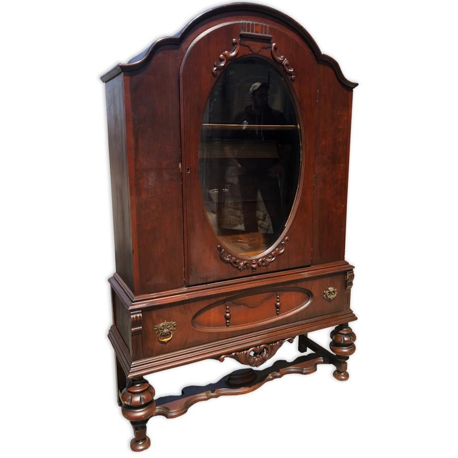 This Antique Victorian Curio Cabinet Would Look Outstanding In An