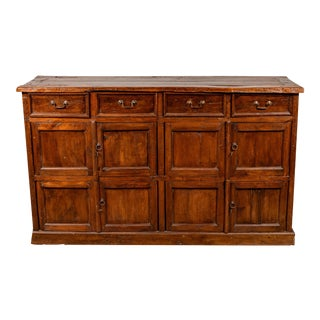 Large Teak Cabinet from Java, with Four Drawers and Four Sets of Double Doors For Sale