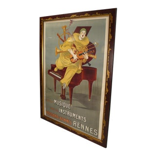Betto Lotti Clown Poster c. 1925 For Sale