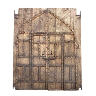 Monumental Antique Palace Entrance Door For Sale