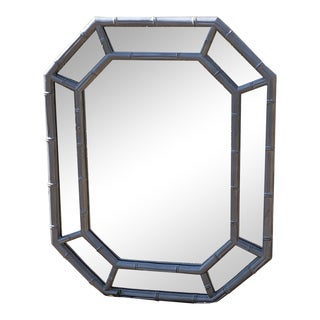 Hollywood Regency Bamboo Mirror For Sale