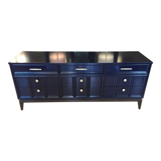 Mid Century Modern Dixie Navy Blue Dresser For Sale