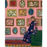 "Image of ""Bunny Gallery"" Contemporary Figurative Print on 16""x20"" Gallery Wrapped Canvas by Michelle Heimann For Sale"