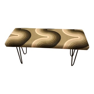 1970's Mid-Century Verner Panton Upholstered Bench For Sale