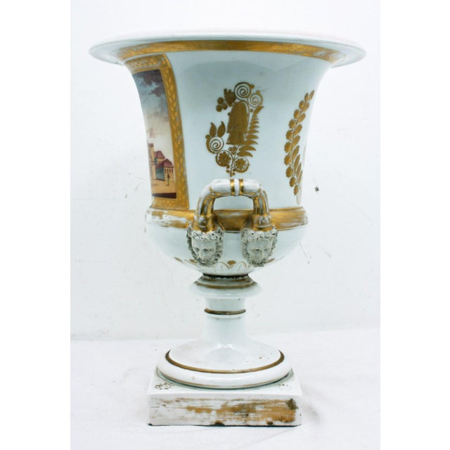 French Mid 19th Century French Large Paris Porcelain Urn For Sale - Image 3 of 9