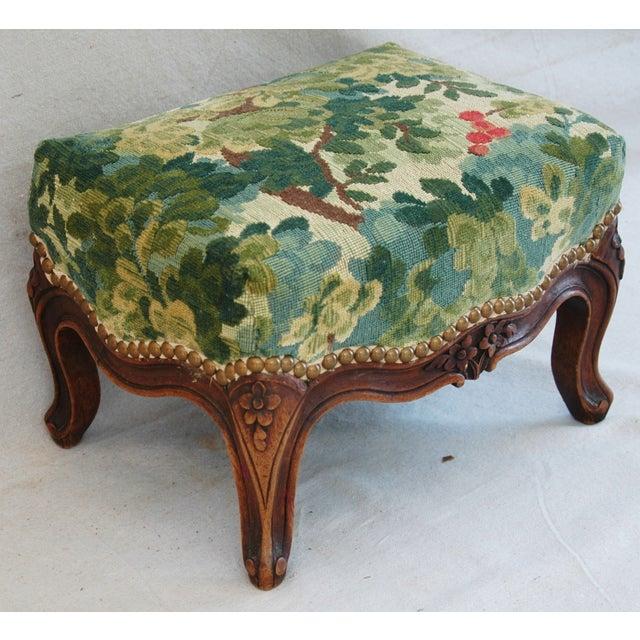Vintage Italian Scalamandre Fabric Footstool - Image 3 of 10