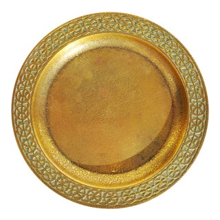 Early 20th Century Tiffany Studios Gold Color Gilded Bronze Plate For Sale