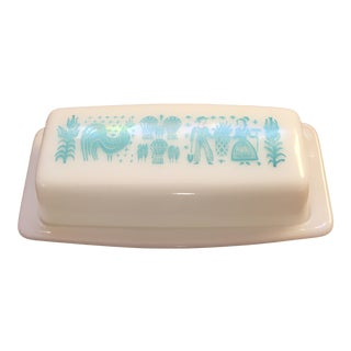 Vintage Pyrex Amish Butter Print Butter Dish For Sale