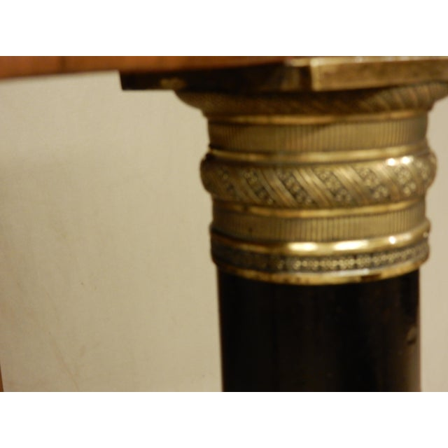 Neoclassical Italian Walnut/Faux Marble Top Console For Sale In New Orleans - Image 6 of 8