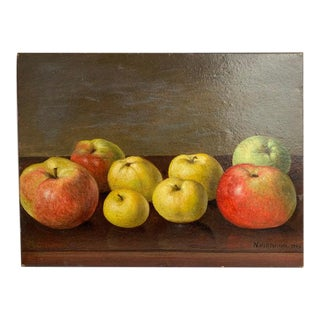 Still Life of Apples by Neils P. Petersen, 1943 For Sale