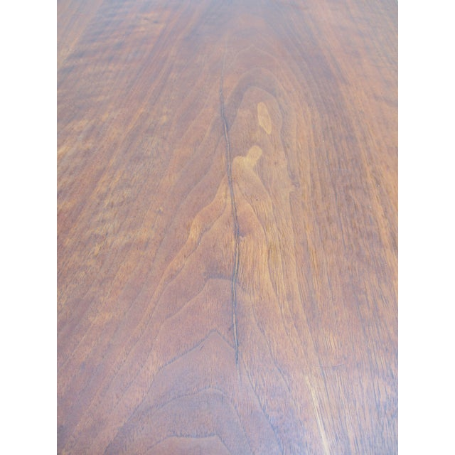 Metal Baker Milling Road Walnut Low Side or Display Table For Sale - Image 7 of 12