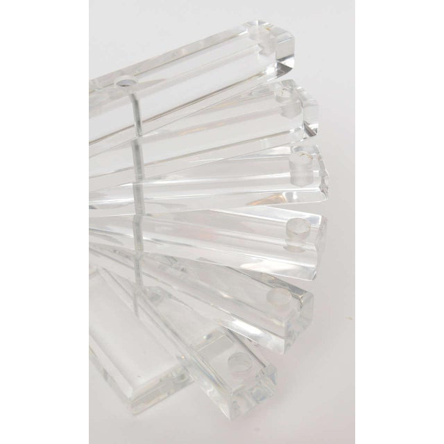 "Lucite Vintage"" Spiral Staircase"" Sculptural 12 Light Candelabra For Sale In Miami - Image 6 of 11"