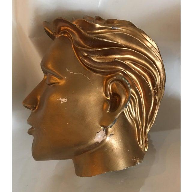 Vintage Fiberglass Man Mannequin Head For Sale - Image 10 of 13
