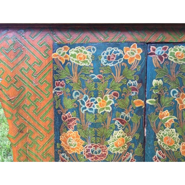 Folk Art Hand Made Dragon Tibetan Chest - Image 9 of 11