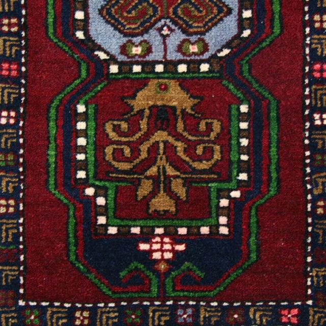 NIH0517-64-4996 Triple Medallion Yastik | 2 x 3 Hand-knotted Carpet Vivid wool along with unique designs make this vintage...