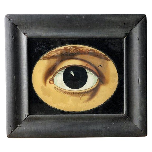 19th C. Reverse Painted Opticians Sign For Sale In West Palm - Image 6 of 6