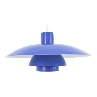 Poul Henningsen for Louis Poulsen Ph 4/3 Pendant Light Blue For Sale