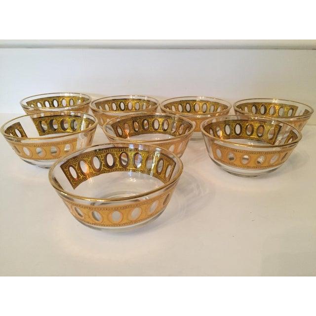 Culver Antigua 22k Gold Dessert Bowls - Set of 8 - Image 5 of 9