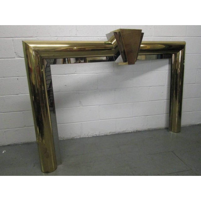 Fireplace Surround in Brass and Chrome by Danny Alessandro For Sale In New York - Image 6 of 6