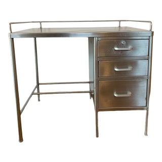 Mid 20th Century Stainless Steel Military Desk by Mar Fab For Sale
