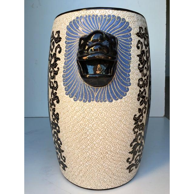 Chinese Porcelain Lion Head Motif Garden Stool - Image 4 of 11