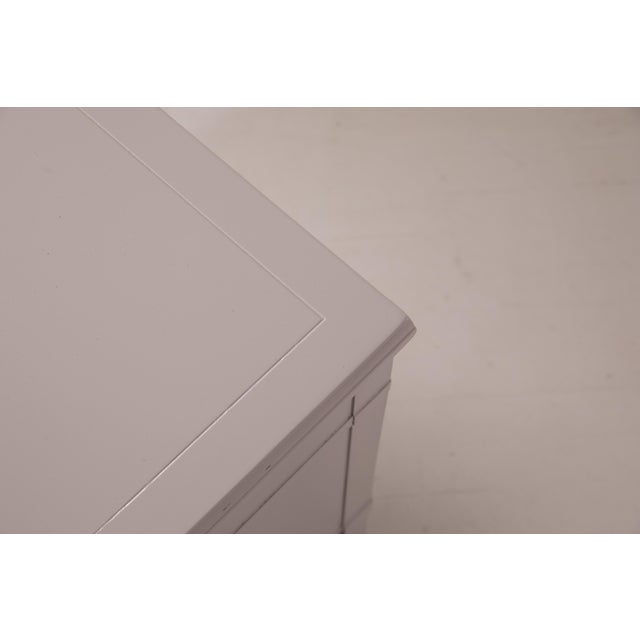Mid-Century Modern Baker Furniture Grey Nightstands - a Pair For Sale - Image 9 of 12