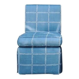 Custom Zak+Fox Fabric Slipper Chair For Sale