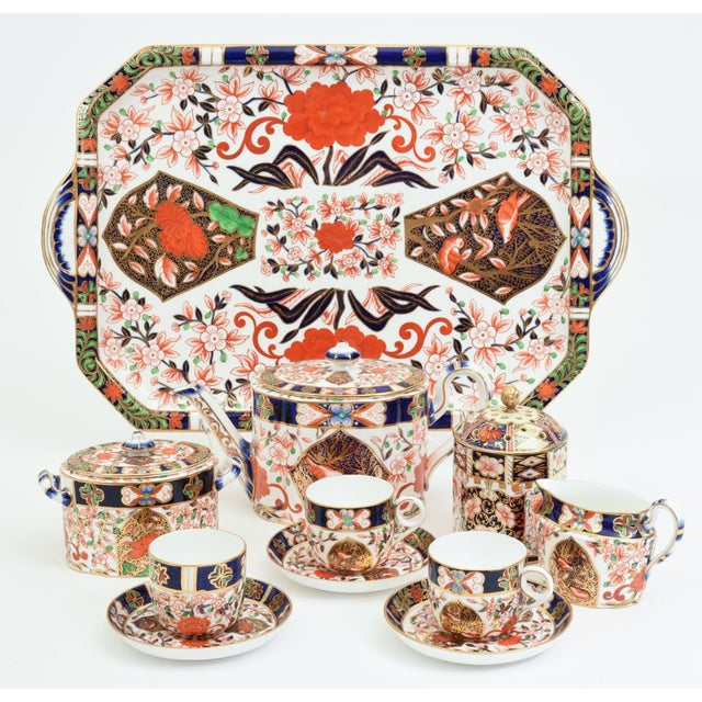 Contemporary Antique England Royal Crown Derby Imari Porcelain Tea Service . For Sale - Image 3 of 13