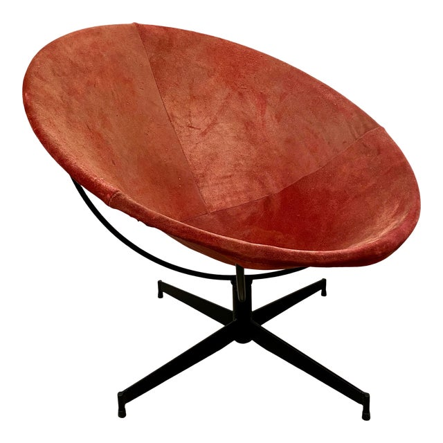 Mid Century Modern William Katavalos Barrel Chair For Sale