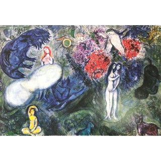 1980s Marc Chagall Poster Le Paradis, Surrealism For Sale
