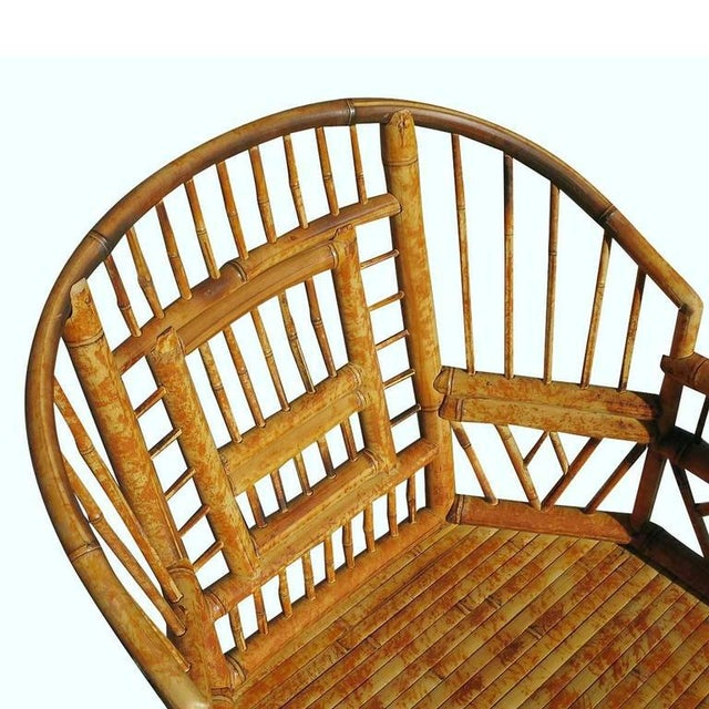"Restored ""Brighton"" Tiger Bamboo Armchair - Image 5 of 5"