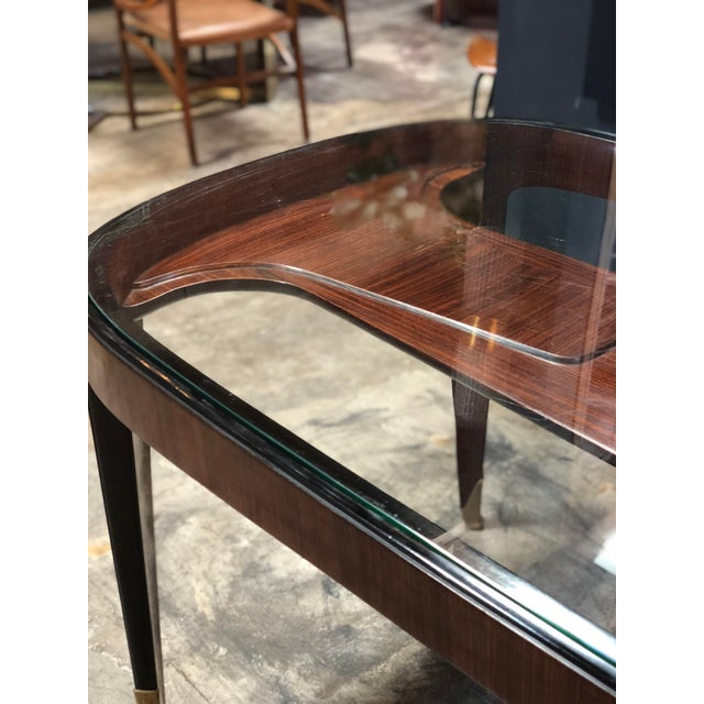 1940s Midcentury Dining Table in Cherrywood by Paolo Buffa for Arrighi, Italy, 1940s For Sale - Image 5 of 12