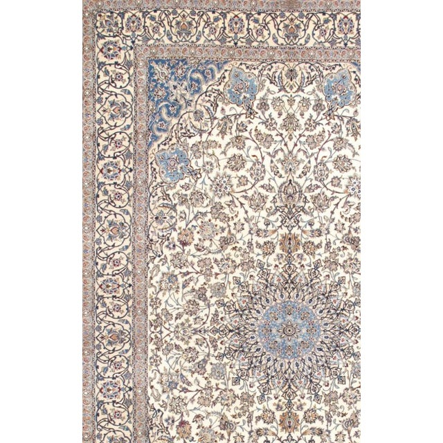 "Traditional Pasargad Nain Silk & Wool Area Rug - 7' 3"" X 11'11"" For Sale - Image 3 of 3"