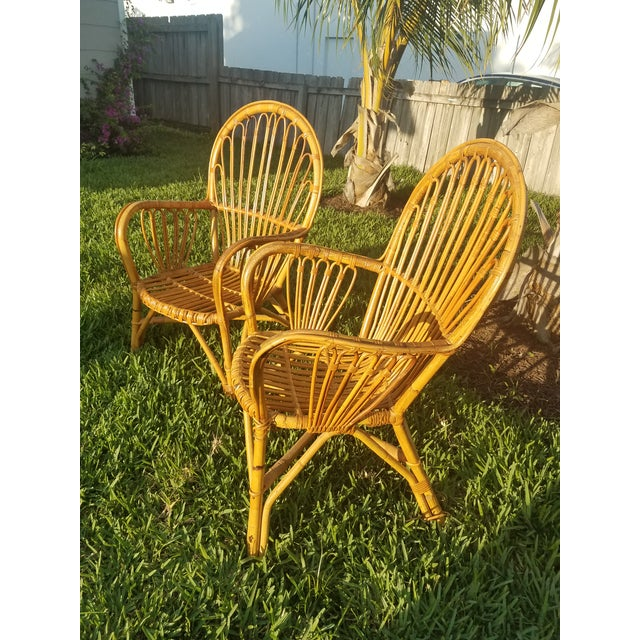 Vintage Rattan Chairs - A Pair - Image 3 of 5