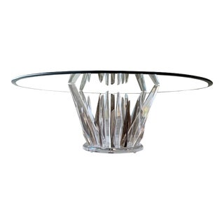 "Shlomi Haziza ""rock"" Acrylic Sculptural Coffee Table in Smoke & Clear For Sale"