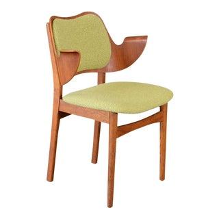 Hans Olsen Bent Teak & Oak Arm Chair For Sale