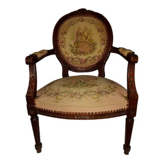 Early 19th Century King Louis XVI Style Accent Chair For Sale