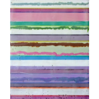 "Original Encaustic Stripes Painting ""Confections No. 35"" by Gina Cochran"