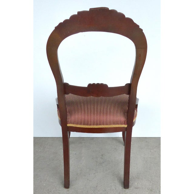 Balloon Back Dining Chairs-A Pair For Sale In Miami - Image 6 of 12