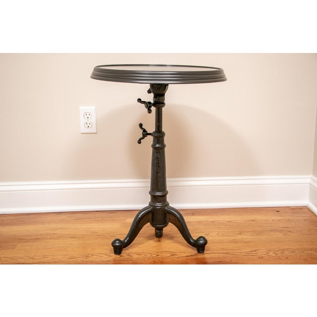 18th C French Restoration Hardware Brasserie Industrial Tilt Top Table For Sale - Image 9 of 9