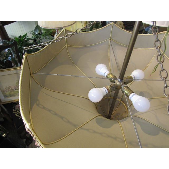Fortuny Fortuny Style Art Deco Fabric Chandelier For Sale - Image 4 of 13