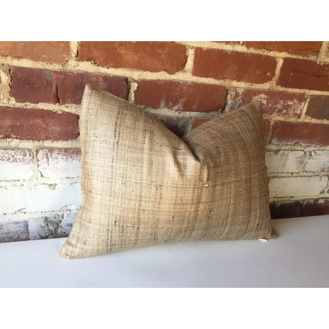 Handwoven Raw Silk Pillow Cover - Image 4 of 5