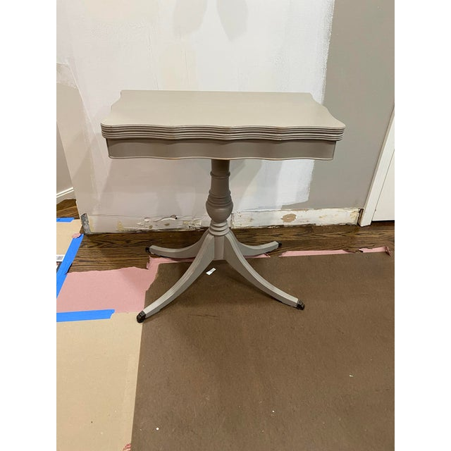 Vintage Traditional Flip Top Pedestal Table For Sale - Image 13 of 13