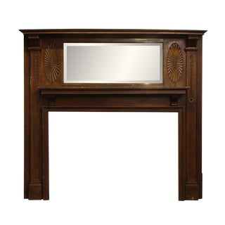 Federal Wood Mantel With Beveled Mirror
