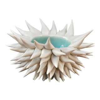 Urchin Bowl in Copper Blue Glaze